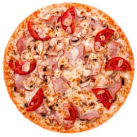 "Мясная пицца с грибами и томатами ""Делавэр"""