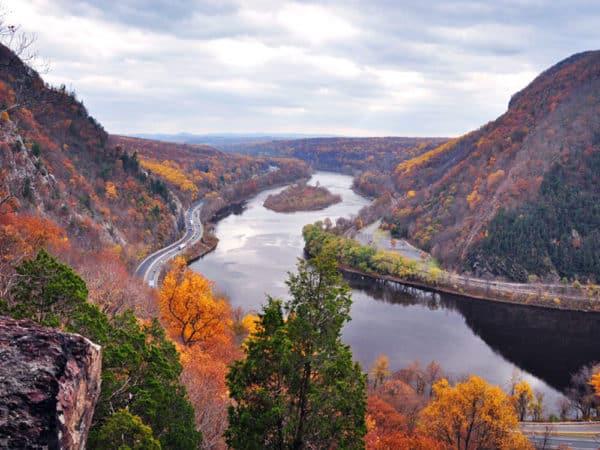 Делавэр Река Осень