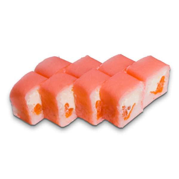 Сложный ролл. Сливочный сыр, лосось и рис в маменори.