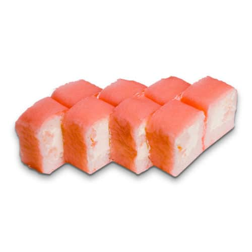 Сложный ролл. Сливочный сыр, креветка и рис в маменори.