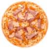 Пицца с манго, мясом и тремя сырами