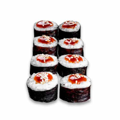 """Ролл """"Томаго-Маки"""". Простой ролл. Тамаго, сливочный сыр, соус терияки, кунжут, рис, нори."""