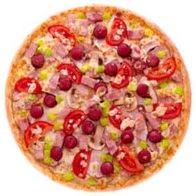 """Мясная пицца с болгарским перцем и томатами """"Вашингтон"""""""
