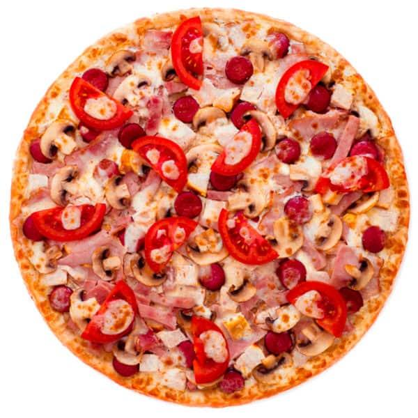 """Мясная и очень тяжелая пицца """"Юта"""""""